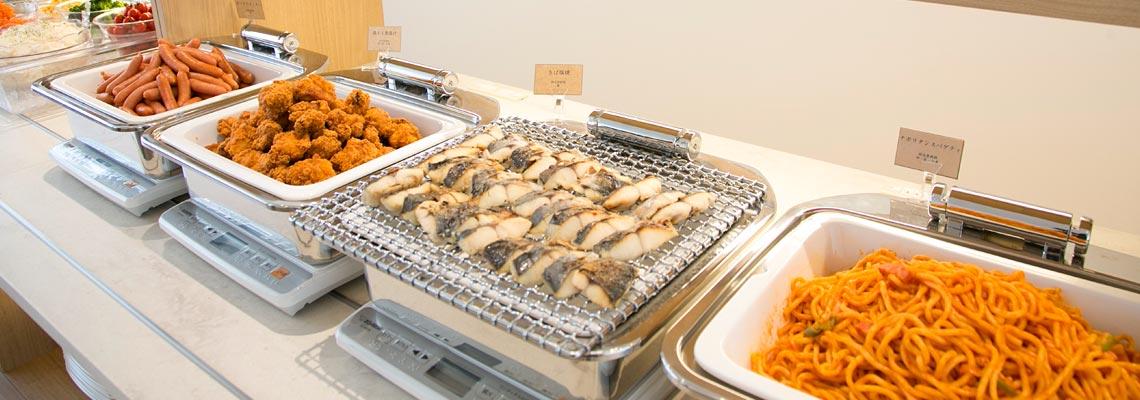 和食・洋食を中心に様々なメニューをラインナップ